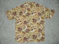 ISLAND BLUE Mens Hawaiian Button Down Shirt Size Medium Large XL