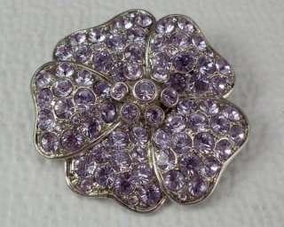 Rhinestone Flower Brooch Figural Pin Jewelry Monet Dimensional