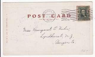 Hoboken NJ Public Park 1907 Postcard |
