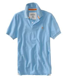 Aeropostale mens solid A87 polo shirt   Style 3000