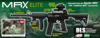 2012 MRX ELITE Semi Auto Paintball Gun Marker   Diamond Black