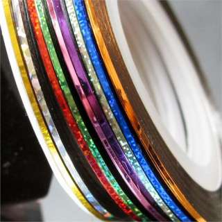 10 Rolls Striping Tape Line Nail Art Decoration Sticker