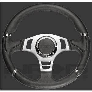 Unviersal 350mm Sport Leather Steering Wheel Red Trim Automotive