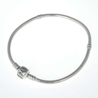 Genuine Pandora Sterling Silver 8.3 inch Bead Clasp Charm Bracelet