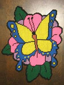 SPRING TIME BUTTERFLY PLASTIC CANVAS PATTERN