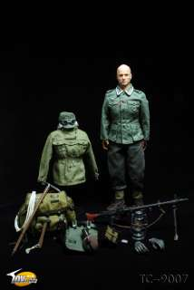 WWII German Mountain Troop MG 34 Gunner Figure by Toys City TC