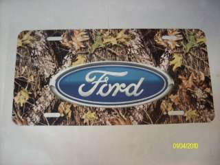 camo ford emblem personalized car vanity plates tags