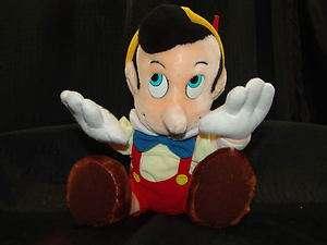 Vintage Disney Land World Plush Stuffed Pinocchio Doll