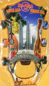 Hard Rock KUALA LUMPUR Guitar Head MAGNET Bottle Opener