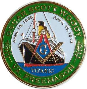 Masonic Titanic Lapel Pin Collectors Item
