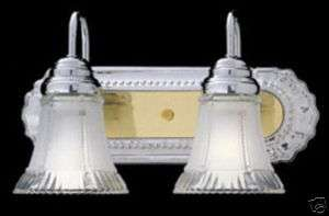 THOMAS CHROME AND POLISHED BRASS BATH WALL LIGHT*NIB