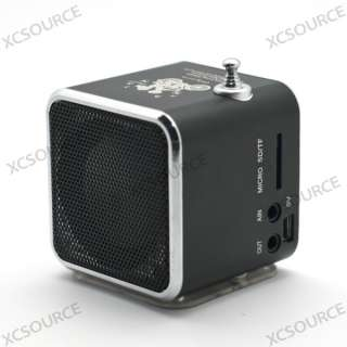 Mini USB Portable FM Radio Speaker Music Player SD/TF Card For PC iPod