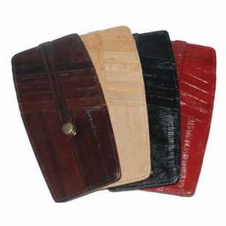 Two Sided Eel Skin Leather Credit Card Holder#E531 803698927563