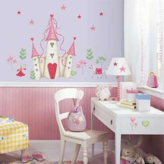 Princess Castle Giant Wall Decal Girls Fairy Princess Sticker