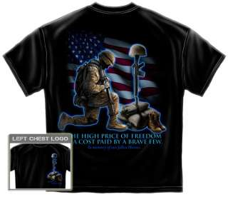 Army memorial T Shirt American soldier grieving US flag military some