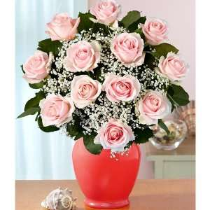 One Dozen Long Stemmed Pink Roses Grocery & Gourmet Food