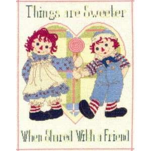 Andy Things Are Sweeter Cross Stitch Leaflet Arts, Crafts & Sewing