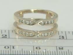 14K Yellow Gold Diamond Ring Guard Enhancer Wrap