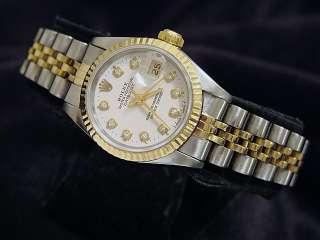 Ladies Two Tone 18k Gold/Ss Rolex Datejust Watch W/Diamond