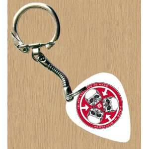 30 Seconds To Mars White Premium Guitar Pick Keyring