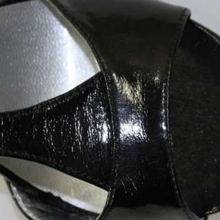 Brand New Max Rave by BCBG Kelvin Black Patent Party High Heels Shoes