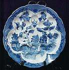 new blue willow porcelain olive escargot plate dish expedited shipping