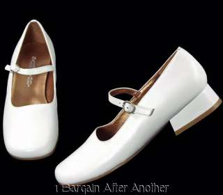 New Sam & Libby Ollie White Leather Mary Jane Dress Shoes Size Youth 5