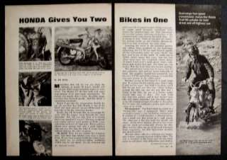 Honda CT 90 1968 Street/Dirt Bike Motorcycle Road Test review
