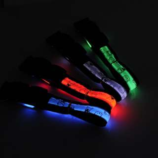 LED Light Safety Night Pet Dog collar Length 38 52cm