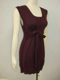 NWOT MOTH Anthropologie Tunic Purple box neck Dress S L
