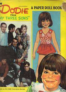 DODIE FROM MY THREE SONS VINTAGE PAPER DOLL BOOK 1971