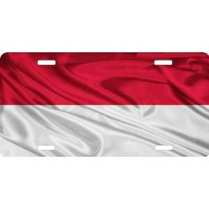 Rikki KnightTM Monaco Flag Cool Novelty License Plate   Unisex   Ideal