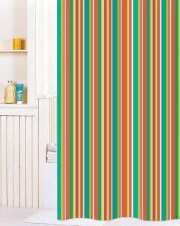 Unique Stripe Printing Fabric Shower Curtain Y2714