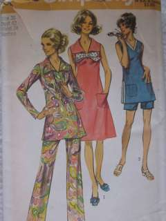 Simplicity Pattern 9328 Womens Tunic Pants Dress FF