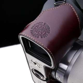 Gariz New leather camera half case for Sony NEX 7 E body   Brown