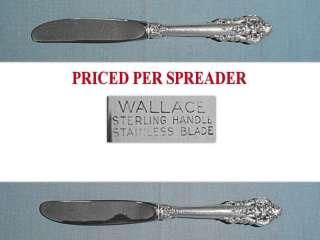 WALLACE STERLING BUTTER SPREADERS ~ GRANDE BAROQUE