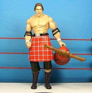 WWE Jakks Rowdy Piper Deluxe Classic Wrestling Figure + Bagpipes