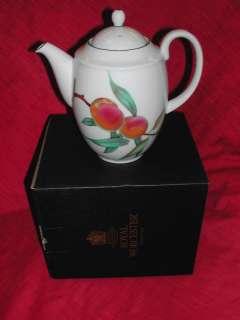 Royal Worcester Eveham Vale Coffee/Tea Pot NIB