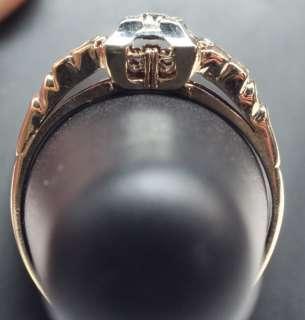 Blossom 14K Yellow Gold 11pt Diamond Engagement Ring & Band Set
