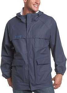 SHELTER COVE MENS RAINCOAT RAIN COAT JACKET SLICKER NAVY BLUE NEW