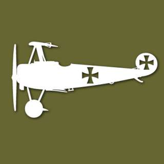 Fokker DR1 Red Baron WWI German Vinyl Sticker VSDR1S