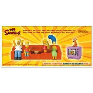 2008 Collectible COUCH A BUNGA 6 Piece Playset (MINT/NEW! Burger King