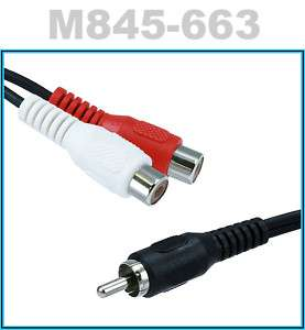 in(RCA)Y Adapter Cable(2 Female 1 Male)Splitter Cord
