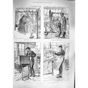 1888 SWEATING SYSTEM HAIR SIEVE WEAVING CHAIR MAKING Home
