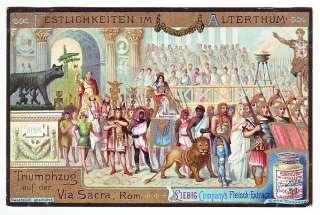 1901 ANCIENT ROME Card Roman Triumph Up the Via Sacra