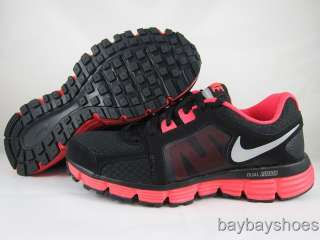 NIKE DUAL FUSION ST 2 BLACK/METALLIC SILVER/SOLAR RED RUNNING WOMENS