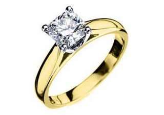 SOLITAIRE RADIANT SHAPE CUT DIAMOND ENGAGEMENT RING YELLOW GOLD
