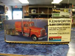 this Monogram Kenworth W 900 Conventional 1/16 Scale Semi Truck Model