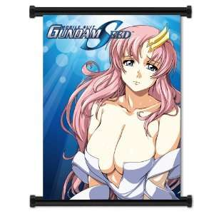 Gundam Seed Lacus Clyne Anime Girl Fabric Wall Scroll