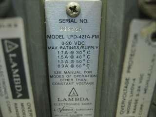 Lambda LPD 421A FM Dual Regulated Power Supply